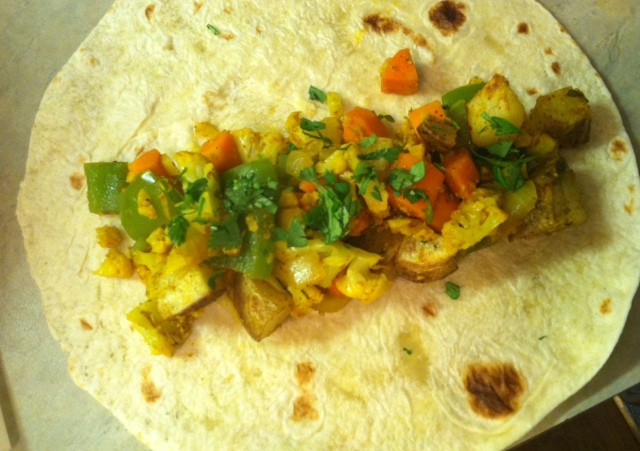 flat tortilla with filling - edited