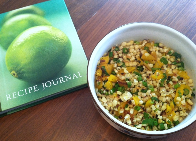 with recipe book