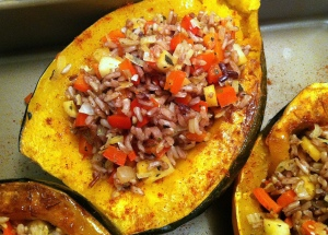 Filled Squash Halves
