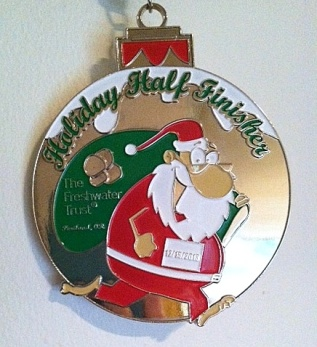 Holiday Half Medal 2013 - edited