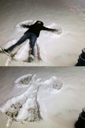 snow angel collage